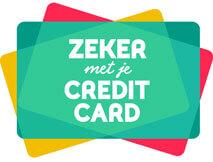 Zeker met je credit card