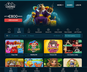 Wekelijkse Casinoland bonus in geld omzetten