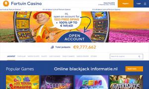 Het geweldige blackjack aanbod van Fortuin casino